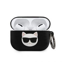 Husa Airpods Pro Karl Lagerfeld Silicon Choupette Negru