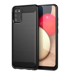 Husa Samsung Galaxy A02s Lemontti Carbon Case Flexible Negru