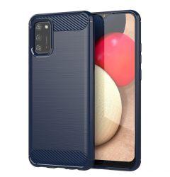 Husa Samsung Galaxy A02s Lemontti Carbon Case Flexible Albastru