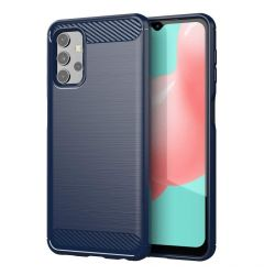 Husa Samsung Galaxy A32 5G Lemontti Carbon Case Flexible Albastru