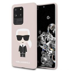 Husa Samsung Galaxy S20 Ultra G988 Karl Lagerfeld Silicon Ikonik Roz