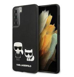 Husa Samsung Galaxy S21 Plus G996 Karl Lagerfeld Ikonik Karl & Choupette Negru
