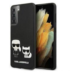 Husa Samsung Galaxy S21 G991 Karl Lagerfeld Ikonik Karl & Choupette Negru