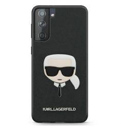 Husa Samsung Galaxy S21 G991 Karl Lagerfeld Saffiano Ikonik Karl's Head Negru
