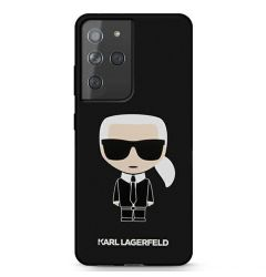 Husa Samsung Galaxy S21 Ultra G998 Karl Lagerfeld Silicon Ikonik Negru