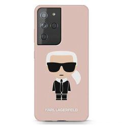 Husa Samsung Galaxy S21 Ultra G998 Karl Lagerfeld Silicon Ikonik Roz