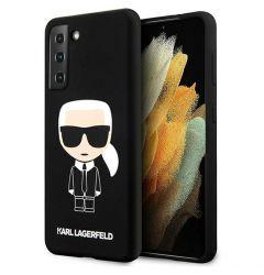 Husa Samsung Galaxy S21 Plus G996 Karl Lagerfeld Silicon Ikonik Negru