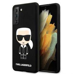 Husa Samsung Galaxy S21 G991 Karl Lagerfeld Silicon Ikonik Negru