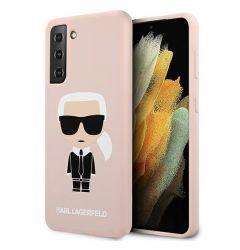 Husa Samsung Galaxy S21 G991 Karl Lagerfeld Silicon Ikonik Roz