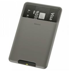 Portcard Baseus Silicon aplicabil pe telefon Dark Gray