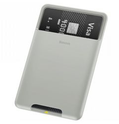 Portcard Baseus Silicon aplicabil pe telefon French Grey