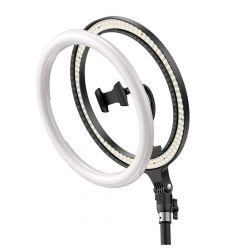 Lampa de birou Baseus Light Ring 12 inch cu Mini Trepied si Suport Telefon Black
