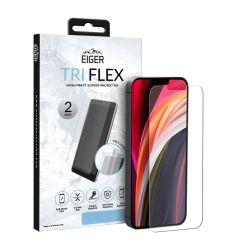 Folie iPhone 11 / XR Eiger Clear Tri Flex Clear 2 buc/pachet