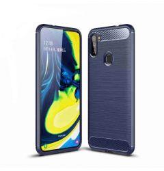 Husa Samsung Galaxy A11 / M11 Lemontti Carbon Case Flexible Albastru