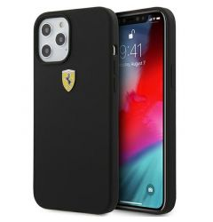 Husa iPhone 12 Pro Max Ferrari On Track Silicone Negru