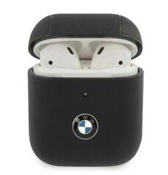 Husa Airpods BMW Signature Leather Negru