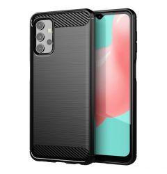 Husa Samsung Galaxy A32 4G Lemontti Carbon Case Flexible Negru
