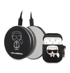 Husa Karl Lagerfeld Silicon Ikonik Airpods +Power Bank