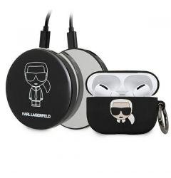 Husa Karl Lagerfeld Silicon Ikonik Airpods Pro +Power Bank