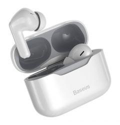Casti TWS Wireless Baseus Simu S1 Bluetooth 5.1 White