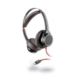 Casti Type-C Plantronics Stereo BlackWire 7225, BW7225 Black