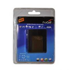 Multihub USB la 2xUSB si cititoare de carduri Procell OTG
