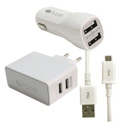 Set incarcare MicroUSB Procell 3 in 1 2.1A (auto, retea si cablu)