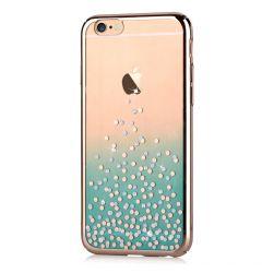 Carcasa iPhone 6/6S Comma Unique Polka Green (Cristale Swarovski, electroplacat, protectie 360)