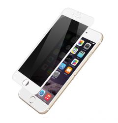 Folie iPhone 7 Plus Devia Frame Sticla Temperata Privacy White