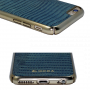 Carcasa iPhone 6/6S Occa Lizard Gray (piele naturala, protectie margine 360�)