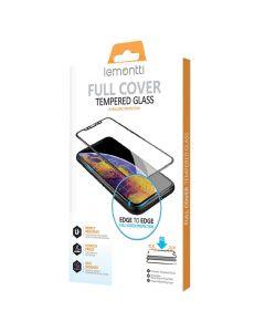 Folie iPhone 11 Pro / XS / X Lemontti Sticla Full Fit Black
