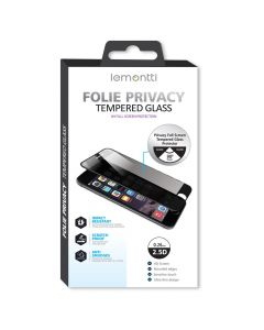 Folie iPhone SE 2020 / 8 / 7 Lemontti Sticla Privacy Black