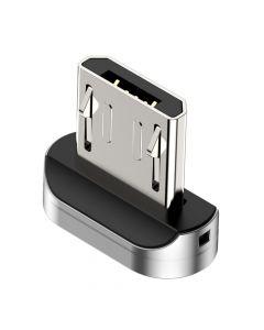 Conector MicroUSB Baseus pentru Cablu Zinc Magnetic Argintiu (de rezerva)