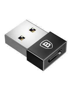 Adaptor USB la Type-C Baseus Mini Exquisite Black