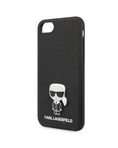 Husa iPhone SE 2020 / 8 / 7 Karl Lagerfeld Saffiano Iconik Negru