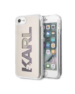 Husa iPhone SE 2020 / 8 / 7 Karl Lagerfeld Glitter Logo Auriu