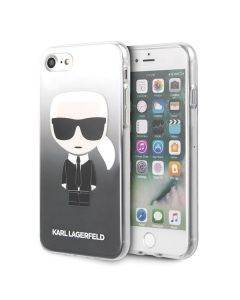Husa iPhone SE 2020 / 8 / 7 Karl Lagerfeld Gradient Ikonik Negru