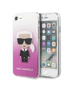 Husa iPhone SE 2020 / 8 / 7 Karl Lagerfeld Gradient Ikonik Roz