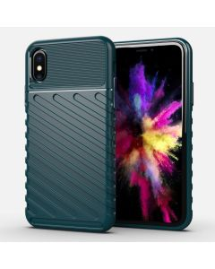 Husa iPhone XS / X Lemontti Thunderbolt Dark Green