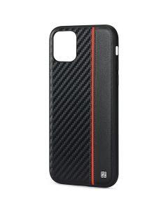 Husa iPhone 11 Pro Meleovo Carbon Black & Red