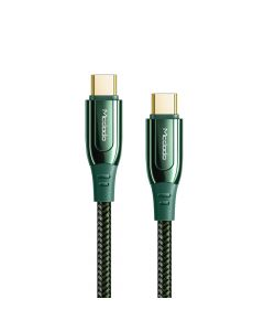 Cablu Type-C la Type-C Mcdodo Super Charge Green (1.2m, 100W)