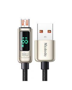 Cablu USB-A la MicroUSB Mcdodo Digital Pro Silver (QC4.0, 1.2m, 3A, 18W)