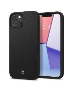 Husa iPhone 13 Cyrill by Spigen Leather Brick Series Black