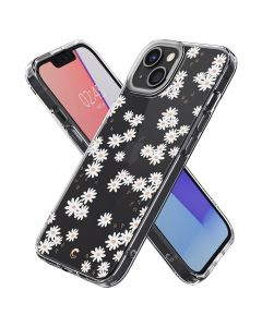 Husa iPhone 13 Cyrill by Spigen Cecile Series White Daisy