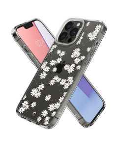 Husa iPhone 13 Pro Max Cyrill by Spigen Cecile Series White Daisy