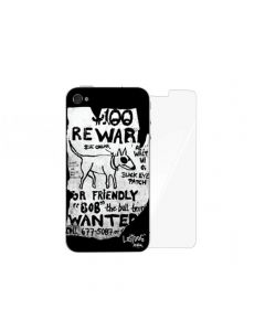Folie iPhone 4/4S Lost Dog Design 3M Skin Wanted (folie ecran inclusa)