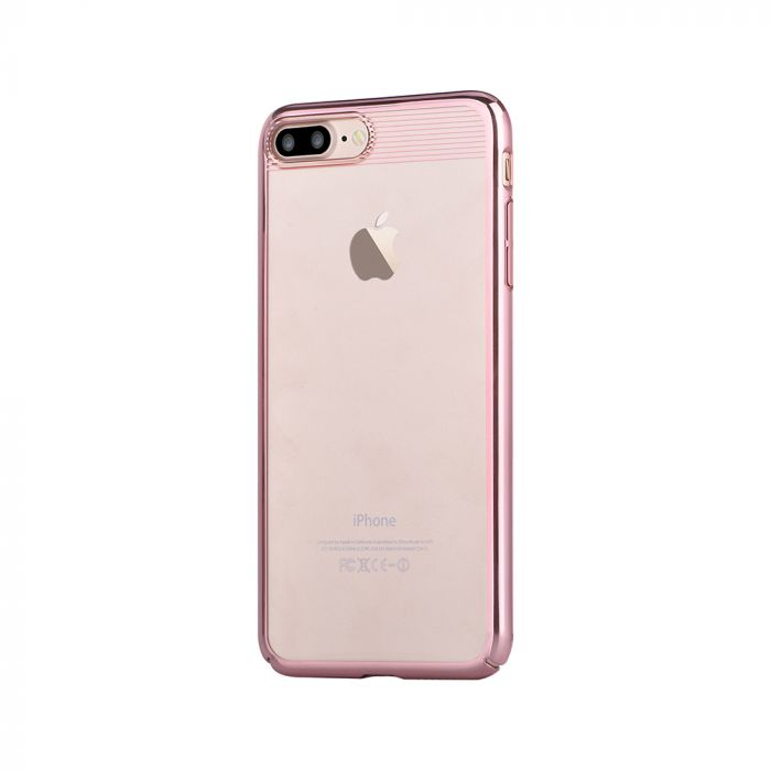 Carcasa iPhone 8 Plus / 7 Plus Comma Brightness Rose Gold (electroplacat, protectie 360�)