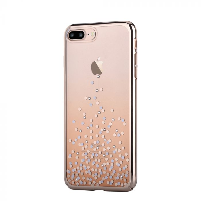 Carcasa iPhone 8 Plus / 7 Plus Comma Unique Polka Champagne Gold (Cristale Swarovski�, electroplacat