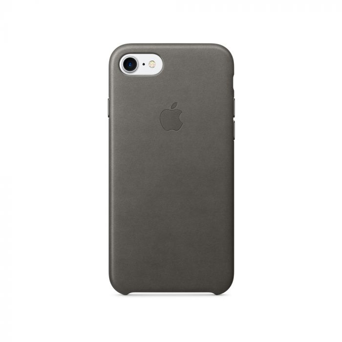 Carcasa iPhone 7 Apple Leather Storm Gray (piele naturala)