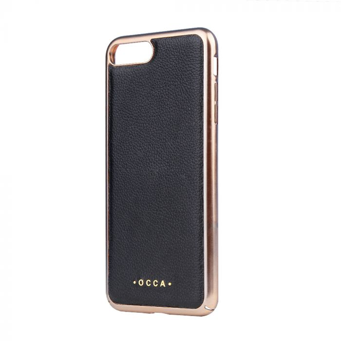 Carcasa iPhone 7 Plus Occa Absolute Black (piele naturala)